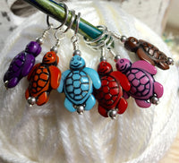 6 Little Turtles Stitch Markers- Gift for Knitters ,  - Jill's Beaded Knit Bits, Jill's Beaded Knit Bits  - 3