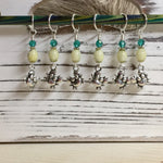 Cute Crabs Stitch Marker Set- Snag Free Knitting Markers , stitch markers - Jill's Beaded Knit Bits, Jill's Beaded Knit Bits  - 3