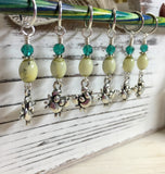 Cute Crabs Stitch Marker Set- Snag Free Knitting Markers , stitch markers - Jill's Beaded Knit Bits, Jill's Beaded Knit Bits  - 2