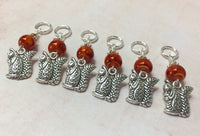 6 Chipmunk Stitch Markers- Snag Free Gifts for Knitters , Stitch Markers - Jill's Beaded Knit Bits, Jill's Beaded Knit Bits  - 2