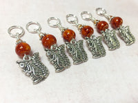 6 Chipmunk Stitch Markers- Snag Free Gifts for Knitters , Stitch Markers - Jill's Beaded Knit Bits, Jill's Beaded Knit Bits  - 1