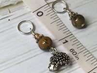 Hedgehog Knitting Stitch Markers- Snag Free Beaded Stitch marker set- Gift for knitters ,  - Jill's Beaded Knit Bits, Jill's Beaded Knit Bits  - 5