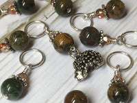 Hedgehog Knitting Stitch Markers- Snag Free Beaded Stitch marker set- Gift for knitters ,  - Jill's Beaded Knit Bits, Jill's Beaded Knit Bits  - 3