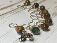 Hedgehog Knitting Stitch Markers- Snag Free Beaded Stitch marker set- Gift for knitters ,  - Jill's Beaded Knit Bits, Jill's Beaded Knit Bits  - 2