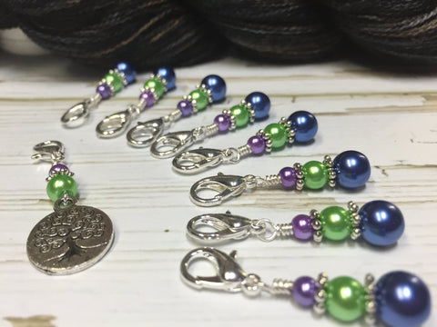 Tree of Life Removable Crochet Stitch Markers, Crochet Gift, Tools, Supplies ,  - Jill's Beaded Knit Bits, Jill's Beaded Knit Bits  - 3