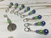 Tree of Life Removable Crochet Stitch Markers, Crochet Gift, Tools, Supplies ,  - Jill's Beaded Knit Bits, Jill's Beaded Knit Bits  - 1
