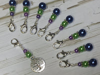 Tree of Life Removable Crochet Stitch Markers, Crochet Gift, Tools, Supplies ,  - Jill's Beaded Knit Bits, Jill's Beaded Knit Bits  - 4