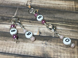 0 to 99 Numbered Row Counter System with Beaded Lanyard Holder- Numbered Piggyback Stitch Markers - Snag Free Row Counters- Knitting Gift ,  - Jill's Beaded Knit Bits, Jill's Beaded Knit Bits  - 4
