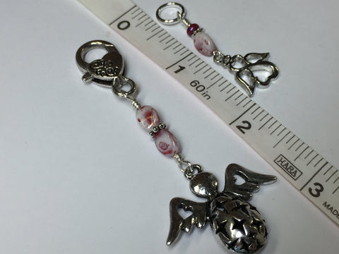 Angels Stitch Marker Set with Holder- Knitting Gift- Tools for Knitters , Stitch Markers - Jill's Beaded Knit Bits, Jill's Beaded Knit Bits  - 5