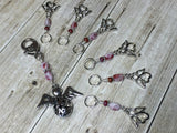 Angels Stitch Marker Set with Holder- Knitting Gift- Tools for Knitters , Stitch Markers - Jill's Beaded Knit Bits, Jill's Beaded Knit Bits  - 3