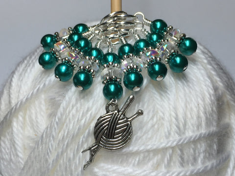 Yarn Charm Beaded Stitch Marker Set- Snag Free Knitting Markers
