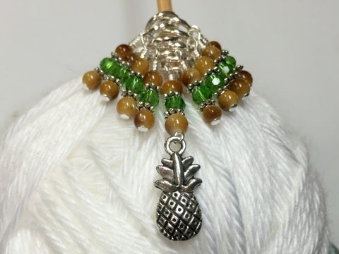 Pineapple Knitting Stitch Marker Set- Gift for Knitters ,  - Jill's Beaded Knit Bits, Jill's Beaded Knit Bits  - 1