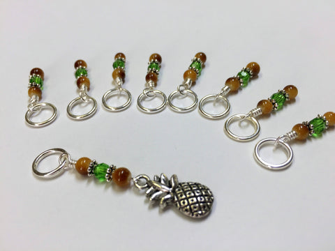 Pineapple Knitting Stitch Marker Set- Gift for Knitters ,  - Jill's Beaded Knit Bits, Jill's Beaded Knit Bits  - 2