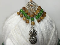 Pineapple Knitting Stitch Marker Set- Gift for Knitters ,  - Jill's Beaded Knit Bits, Jill's Beaded Knit Bits  - 5