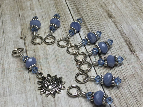 Sun Stitch Marker Set for Knitters