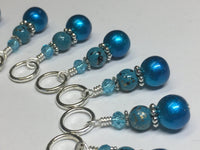 Yarn Sheep Knitting Stitch Marker Set- SNAG FREE Blue Stitch Marker Jewelry-  Beaded Tools-  Animal Gift for Knitters ,  - Jill's Beaded Knit Bits, Jill's Beaded Knit Bits  - 4