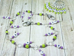 1-100 Chain Row Counter System- Purple & Green Number Stitch Markers- Gift for Knitters- Knitting Tools- Supplies ,  - Jill's Beaded Knit Bits, Jill's Beaded Knit Bits  - 2