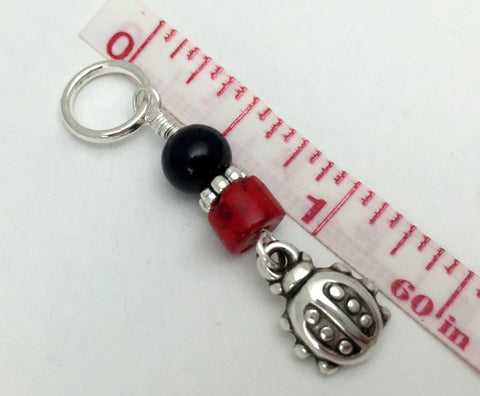 Ladybug Snag Free Stitch Markers- Birthday Gifts for Knitters - Crochet Markers - Beaded Knitting Markers - Tools ,  - Jill's Beaded Knit Bits, Jill's Beaded Knit Bits  - 5