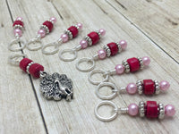 Peacock Stitch Marker Charm Set, Gifts for Knitters, Snag Free Beaded Bird Knitting Markers, Knitting Accessories ,  - Jill's Beaded Knit Bits, Jill's Beaded Knit Bits  - 4