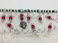 Peacock Stitch Marker Charm Set, Gifts for Knitters, Snag Free Beaded Bird Knitting Markers, Knitting Accessories ,  - Jill's Beaded Knit Bits, Jill's Beaded Knit Bits  - 2