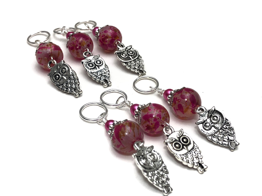 Owl Knitting Stitch Markers - Snag Free