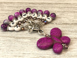 Purple Butterfly Number Stitch Markers for Knitting