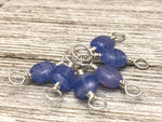 Double Duty Periwinkle Stitch Markers - Gift for Knitters - Two Sizes in One Marker