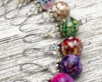 Wire Loop Stitch Marker Set - Multi Colored 10 piece