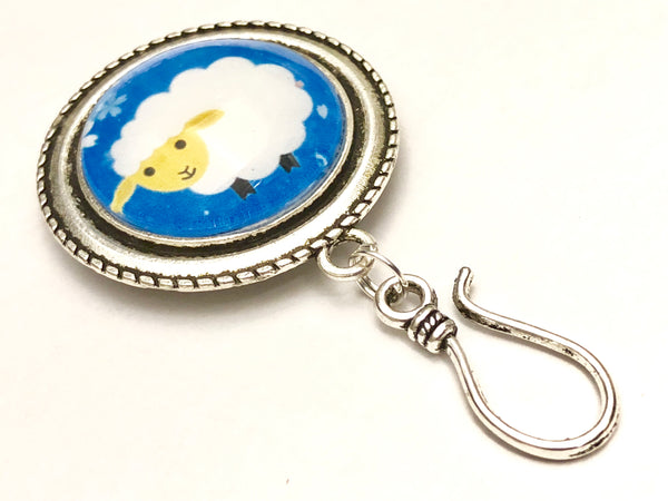 Sheep Knitting Pin for Portuguese Knitting -Magnetic- ID Holder