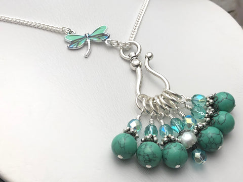 Dragonfly Stitch Marker Necklace