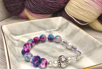 Abacus Row Counting Bracelet - Optional ADD 6 Stitch Markers