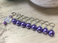 Snag Free Opal-Violet Stitch Marker Set for Knitting , Stitch Markers - Jill's Beaded Knit Bits, Jill's Beaded Knit Bits  - 2
