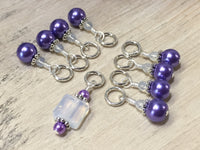 Snag Free Opal-Violet Stitch Marker Set for Knitting , Stitch Markers - Jill's Beaded Knit Bits, Jill's Beaded Knit Bits  - 1
