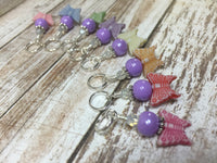 Snag Free Knitting Stitch Markers- Pastel Butterflies (8 piece) , Stitch Markers - Jill's Beaded Knit Bits, Jill's Beaded Knit Bits  - 5