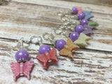 Snag Free Knitting Stitch Markers- Pastel Butterflies (8 piece) , Stitch Markers - Jill's Beaded Knit Bits, Jill's Beaded Knit Bits  - 2