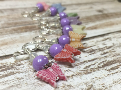 Snag Free Knitting Stitch Markers- Pastel Butterflies (8 piece) , Stitch Markers - Jill's Beaded Knit Bits, Jill's Beaded Knit Bits  - 7
