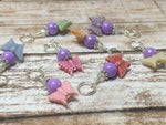 Snag Free Knitting Stitch Markers- Pastel Butterflies (8 piece) , Stitch Markers - Jill's Beaded Knit Bits, Jill's Beaded Knit Bits  - 8