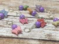 Snag Free Knitting Stitch Markers- Pastel Butterflies (8 piece) , Stitch Markers - Jill's Beaded Knit Bits, Jill's Beaded Knit Bits  - 4