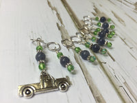 Antique Pick up Truck Stitch Marker Set , Stitch Markers - Jill's Beaded Knit Bits, Jill's Beaded Knit Bits  - 3