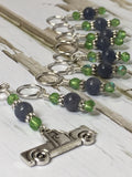 Antique Pick up Truck Stitch Marker Set , Stitch Markers - Jill's Beaded Knit Bits, Jill's Beaded Knit Bits  - 4