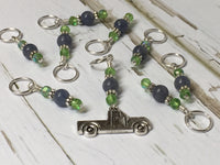 Antique Pick up Truck Stitch Marker Set , Stitch Markers - Jill's Beaded Knit Bits, Jill's Beaded Knit Bits  - 5