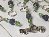 Antique Pick up Truck Stitch Marker Set , Stitch Markers - Jill's Beaded Knit Bits, Jill's Beaded Knit Bits  - 6