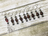Slice of Pizza 9 Piece Stitch Marker Set , Stitch Markers - Jill's Beaded Knit Bits, Jill's Beaded Knit Bits  - 2