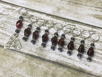 Slice of Pizza 9 Piece Stitch Marker Set , Stitch Markers - Jill's Beaded Knit Bits, Jill's Beaded Knit Bits  - 4
