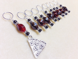 Slice of Pizza 9 Piece Stitch Marker Set , Stitch Markers - Jill's Beaded Knit Bits, Jill's Beaded Knit Bits  - 6