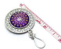 MAGNETIC Purple Mandala Portuguese Knitting Pin- Gift for Knitters