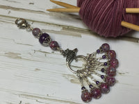 Purple Speckle Lanyard with Removable Crochet Markers , Stitch Markers - Jill's Beaded Knit Bits, Jill's Beaded Knit Bits  - 3