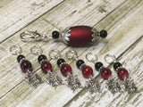 Red Butterflies Stitch Markers with Matching Stitch Marker Holder , Stitch Markers - Jill's Beaded Knit Bits, Jill's Beaded Knit Bits  - 8