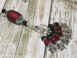 Red Butterflies Stitch Markers with Matching Stitch Marker Holder , Stitch Markers - Jill's Beaded Knit Bits, Jill's Beaded Knit Bits  - 1