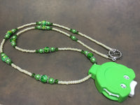 Green Row Counter Necklace for Knitting or Crochet , jewelry - Jill's Beaded Knit Bits, Jill's Beaded Knit Bits  - 8